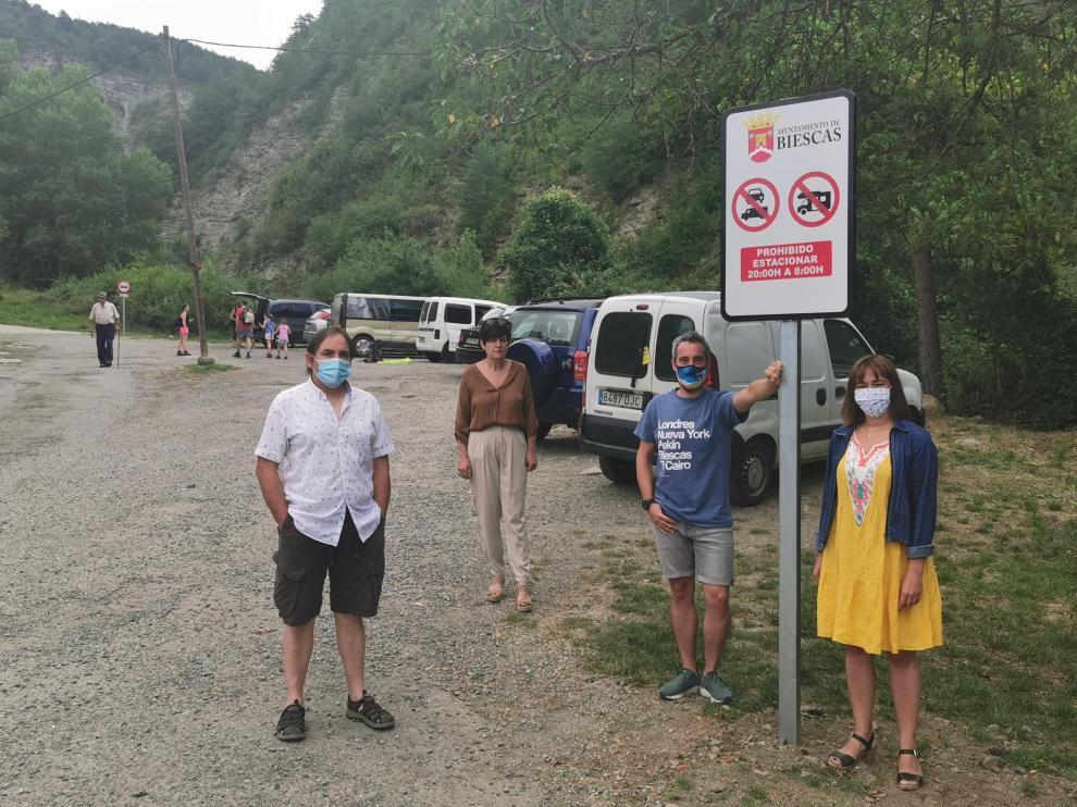 Biescas regula el acceso a la cascada de Orós Bajo ante la masificación turística