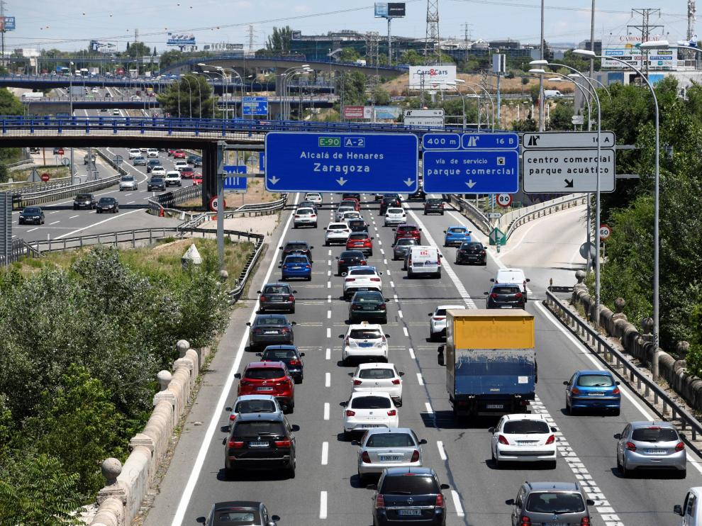 Tráfico en las salidas de Madrid.