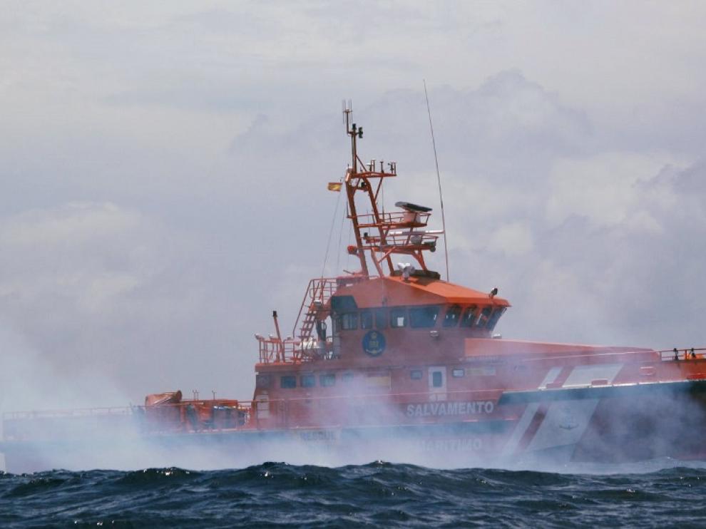 Embarcación de Salvamento Marítimo, organización que acudió al accidente