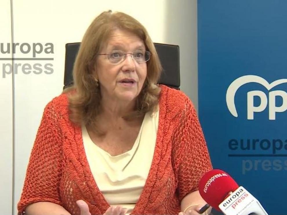 La vicesecretaria de Sectorial del PP, Elvira Rodríguez, durante la entrevista