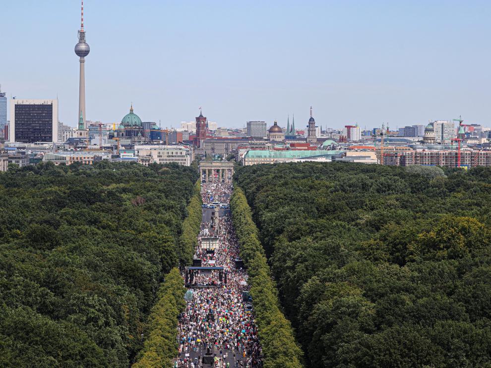 Vista general de la manifestación de este sábado en Berlín.
