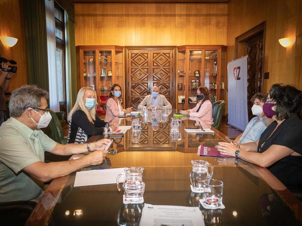 Reunión de la Junta de portavoces del Ayuntamiento de Zaragoza