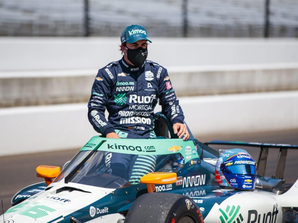 Fernando Alonso, en Indianapolis.