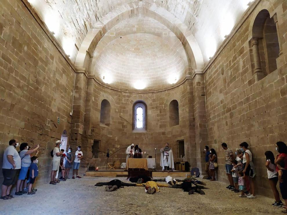 También se recreen escenas de la vida templaria en las dependencias interiores del castillo.