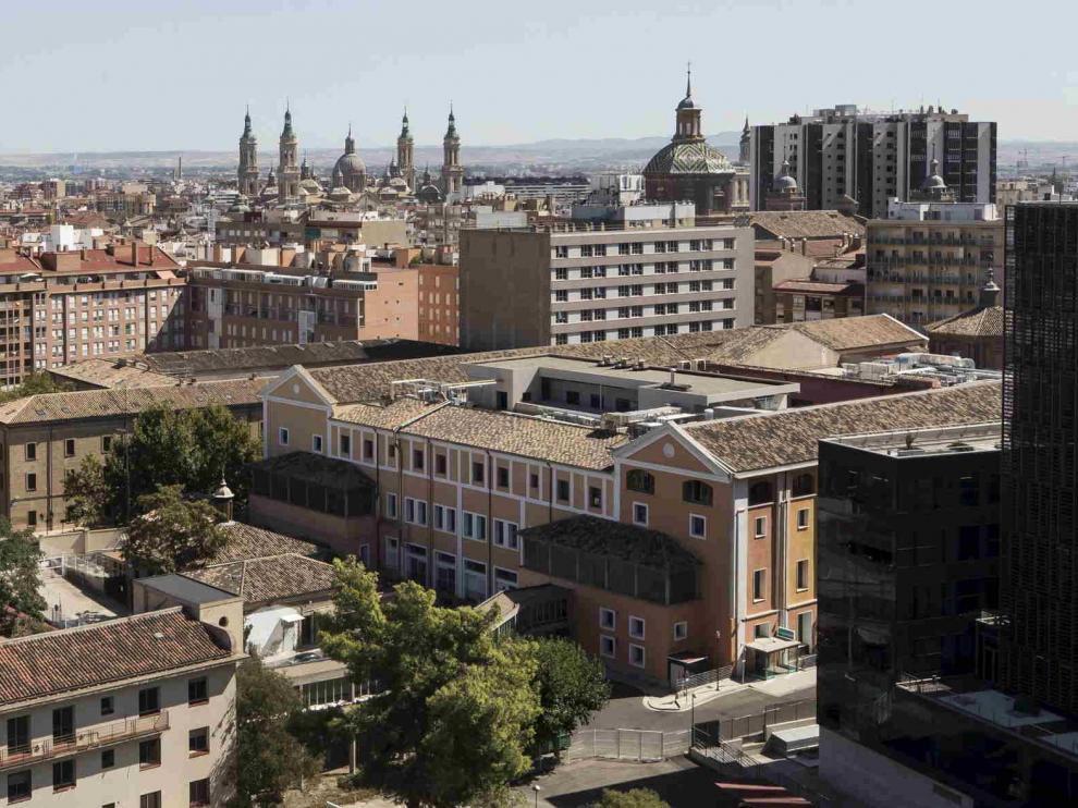 Vistas de Zaragoza desde la terraza del museo Pablo Serrano