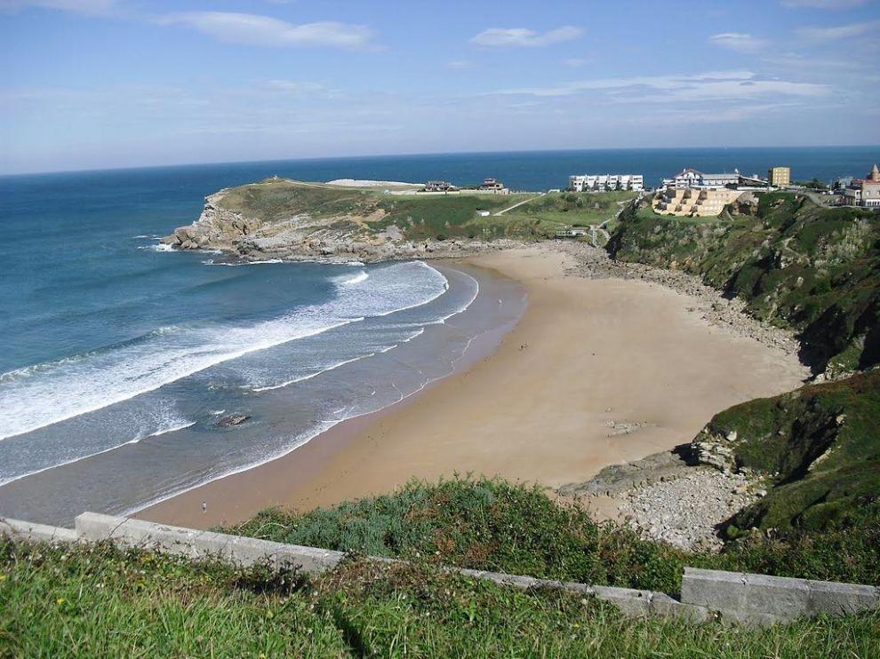 Playa de los Locos, en Suances (Cantabria)