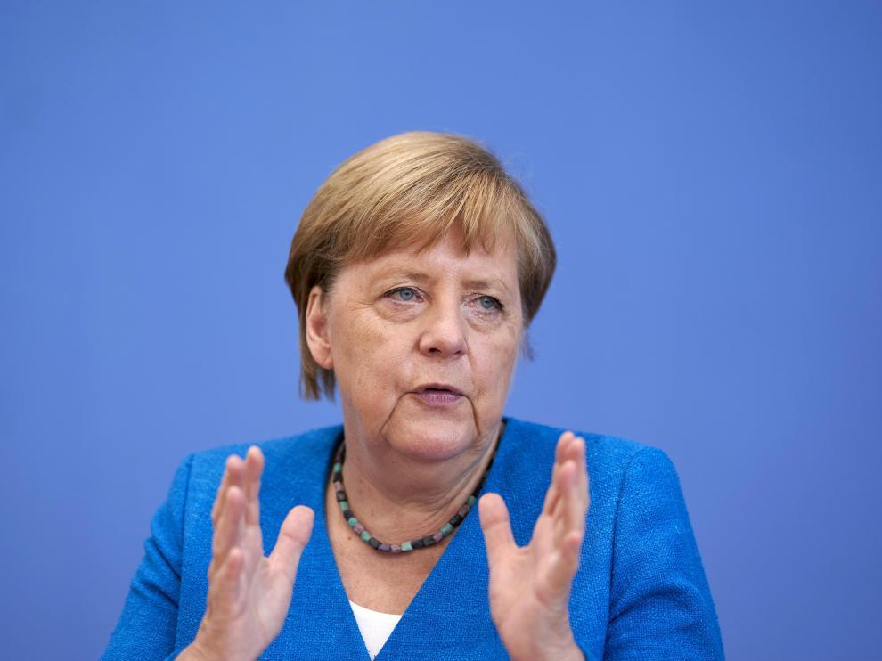 Angela Merkel este viernes en Berlín.