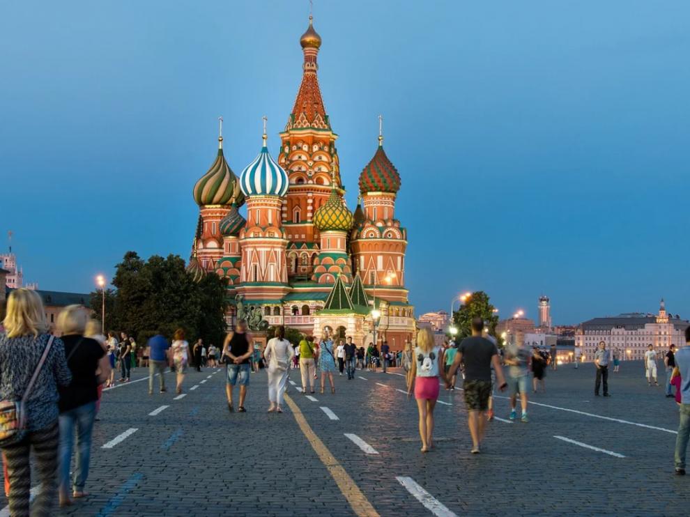 Foto de archivo de la Plaza Roja de Moscú