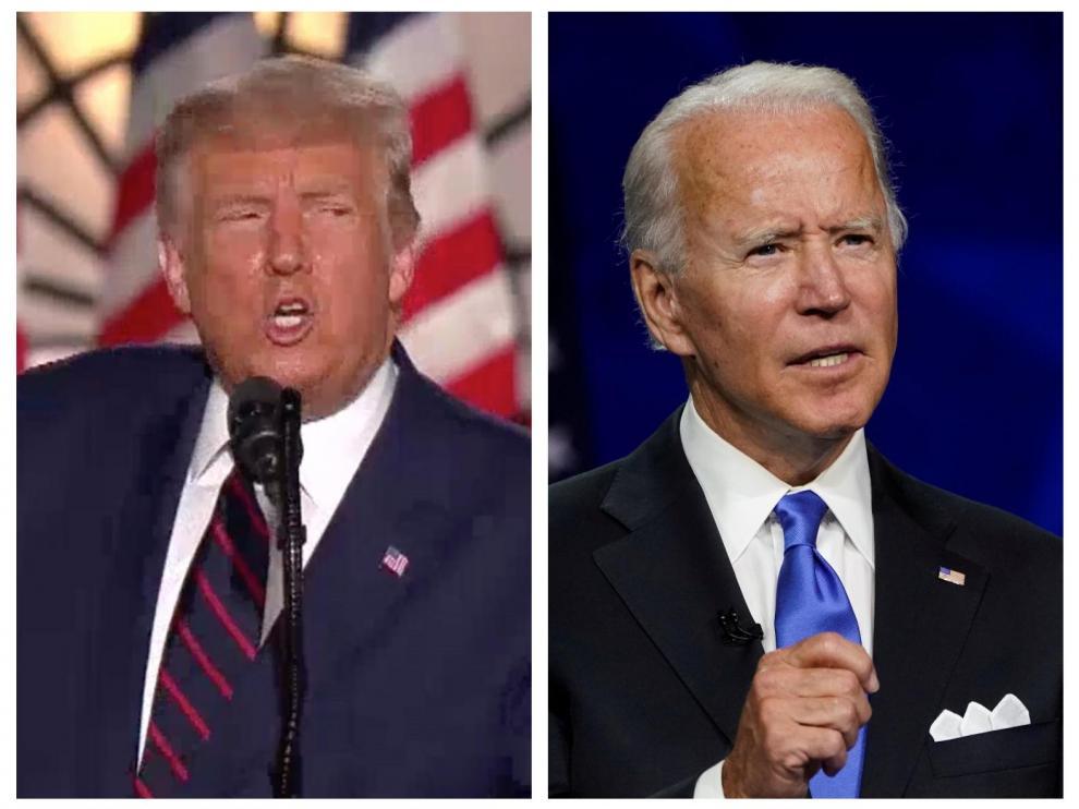 Donald Trump y Joe Biden, candidatos republicano y demócrata a la Casa Balnca