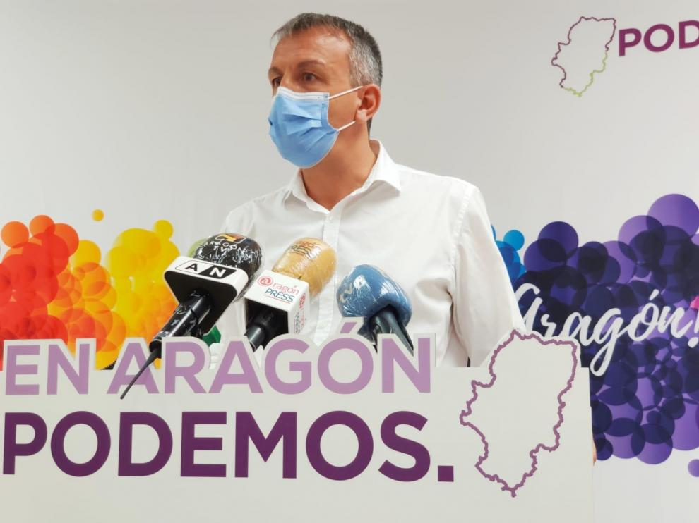 Fernando Rivarés, este miércoles, en rueda de prensa.