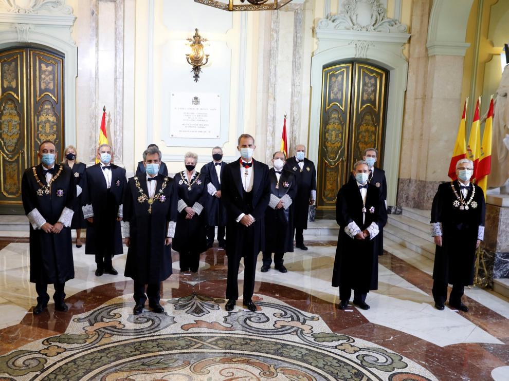 El rey abre el año judicial marcado por la COVID-19 y el bloqueo del CGPJ