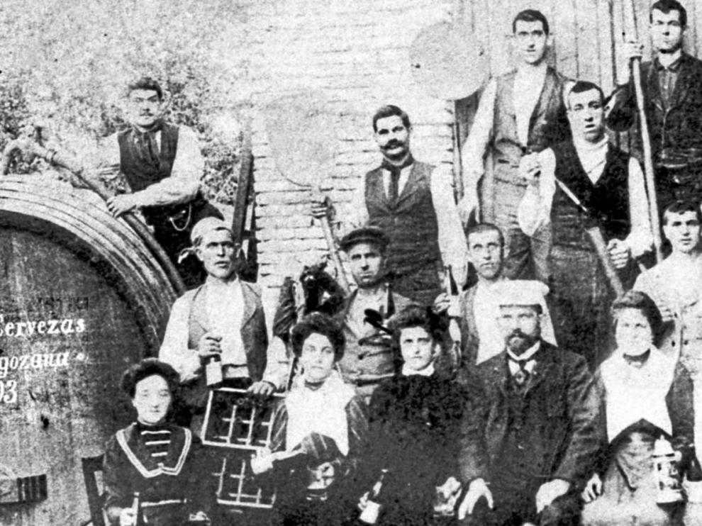 Primeros trabajadores de La Zaragozana.