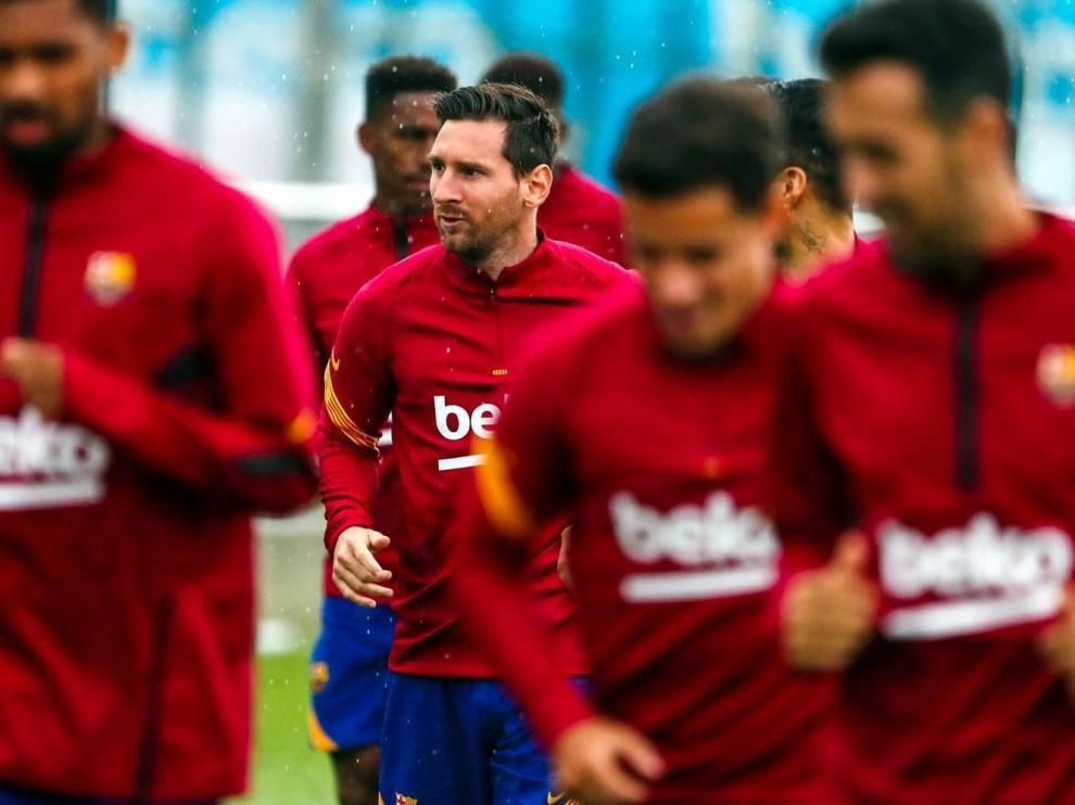 Messi, en la foto entrenando esta semana, ha protagonizado la noticia del verano en Primera.
