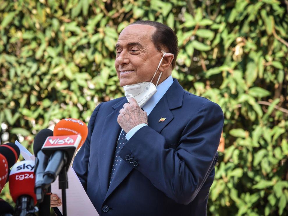Berlusconi, a su salida del hospital.