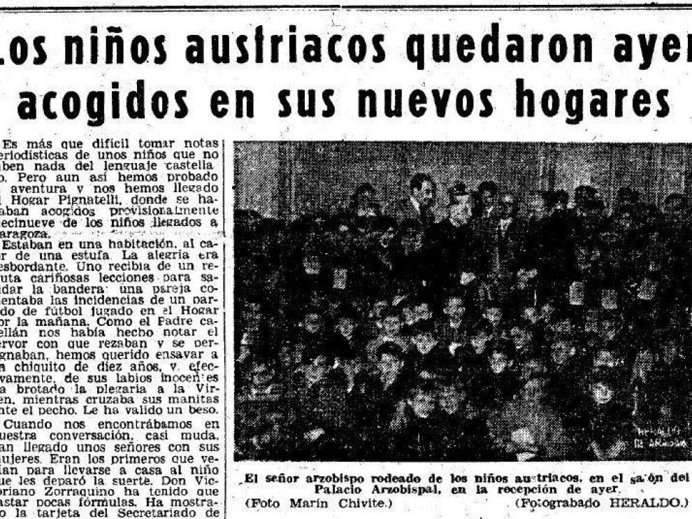 esde que los pequeños llegaron a Zaragoza hasta su partida siete meses después HERALDO realizó un continuo seguimiento de todas las actividades que desarrollaron