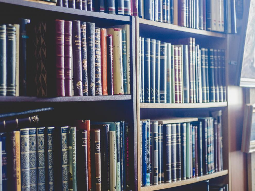 Imagen de una estantería llena de libros.