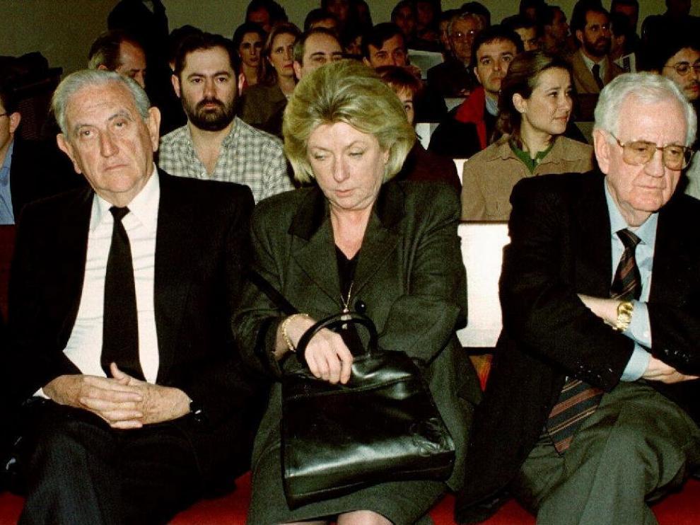 Los padres y familiares de Anabel Segura, en el juicio.