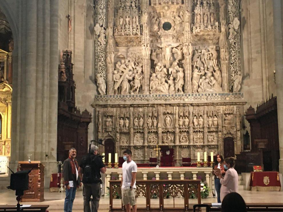 Retablo de Damián Forment, en la catedral de Huesca.
