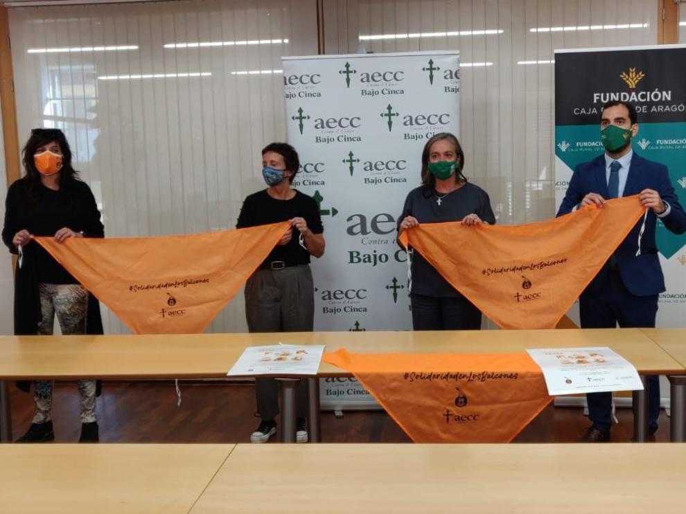 Imagen de la presentación de la campaña en Fraga.