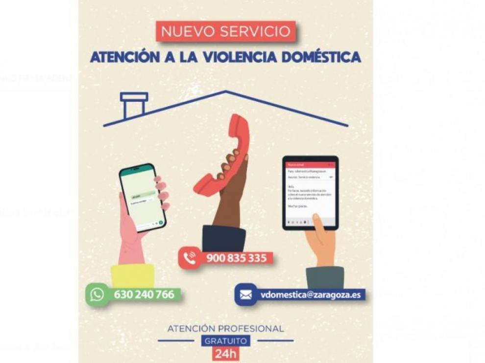 Nuevo servicio del Ayuntamiento de Zaragoza para atender la violencia doméstica las 24 horas del día
