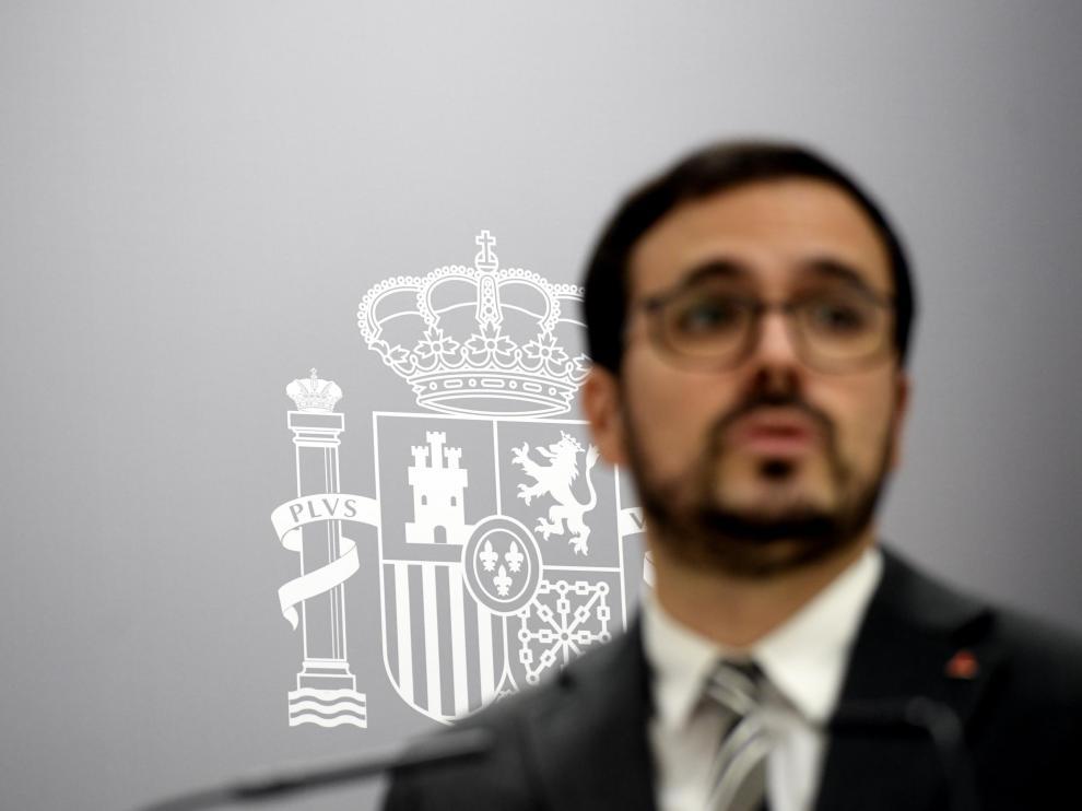 Alberto Garzón, el pasado miércoles.