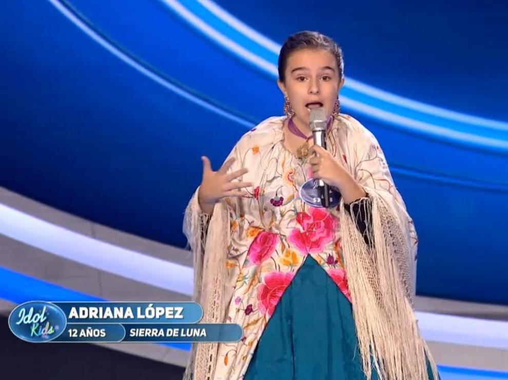 La aragonesa Adriana López, de Ricla, durante su actuación.