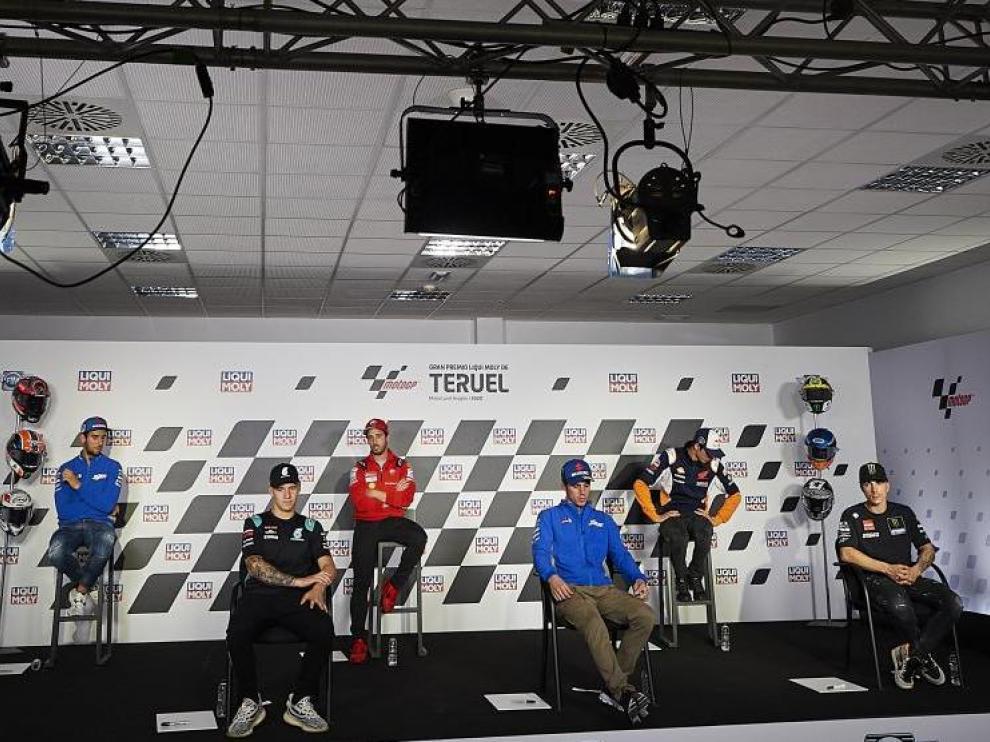 Rueda de prensa previa al Gran Premio Loqui Moli de Teruel en Motorland