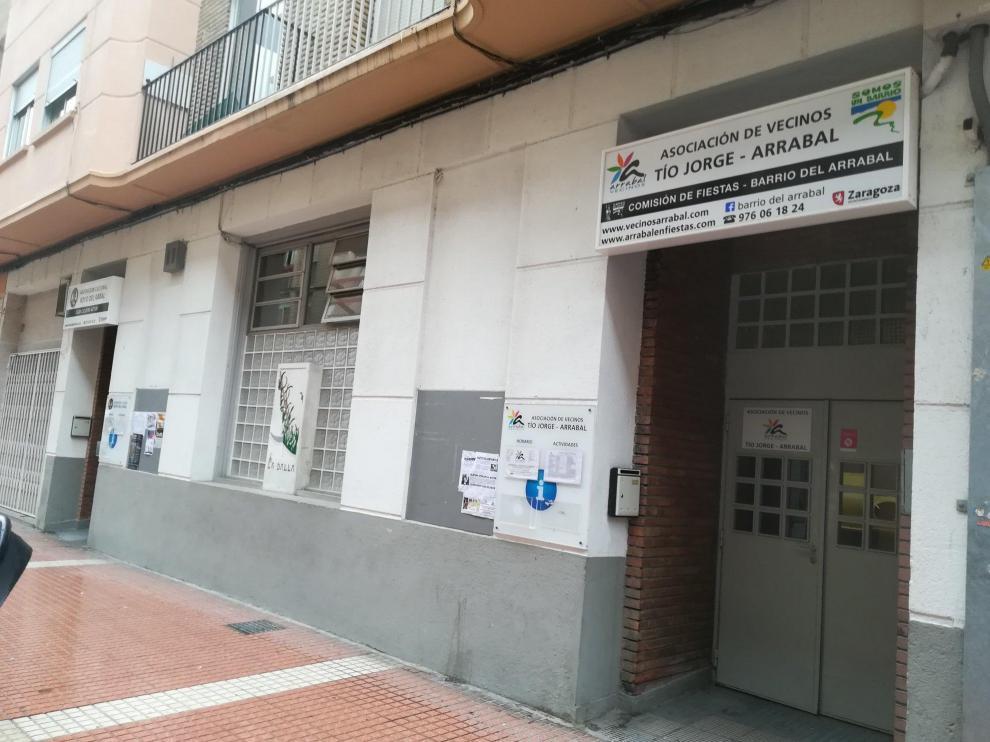 Sede de la asociación de vecinos del Arrabal.