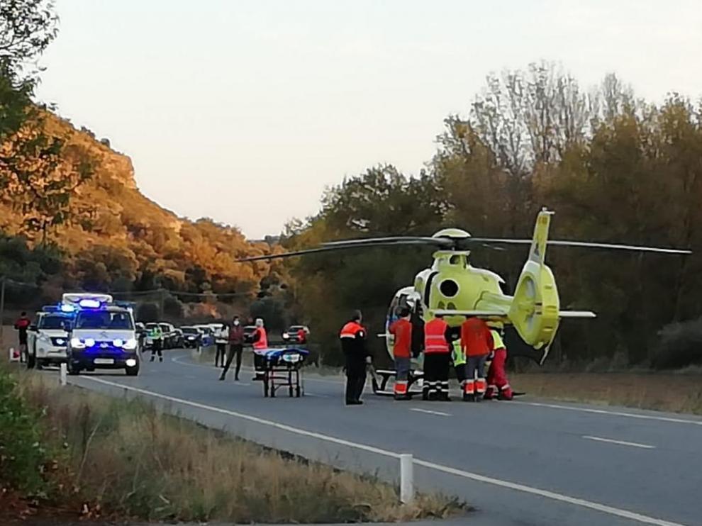 El conductor arrolló a dos ciclistas en Pozán de Vero, uno de los cuales murió horas después.