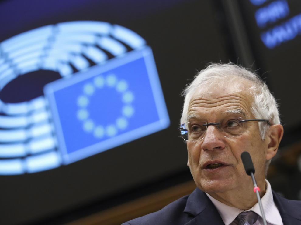 Borrell, durante el debate en el Parlamento Europeo sobre las elecciones en Estados Unidos.