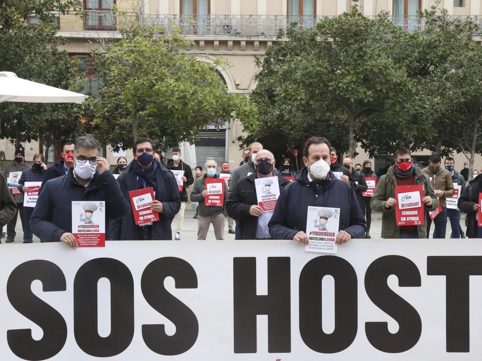 Concentración de la hostelería en Zaragoza