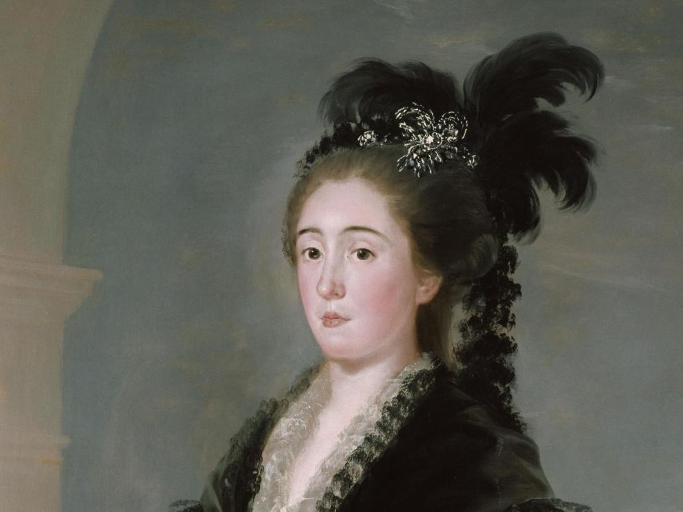 Retrato de la infanta María Teresa de Vallabriga realizado por Goya en 1783 y consercado en la Neue Pinakothek de Múnich