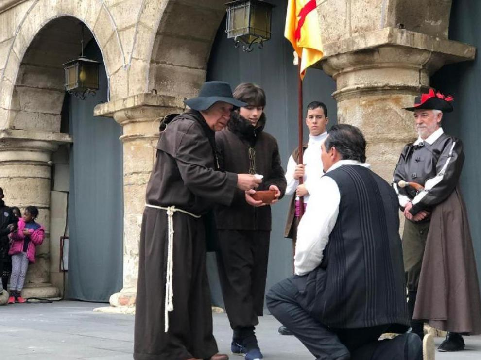 Recreación del bautizo del alcalde de Monzón.
