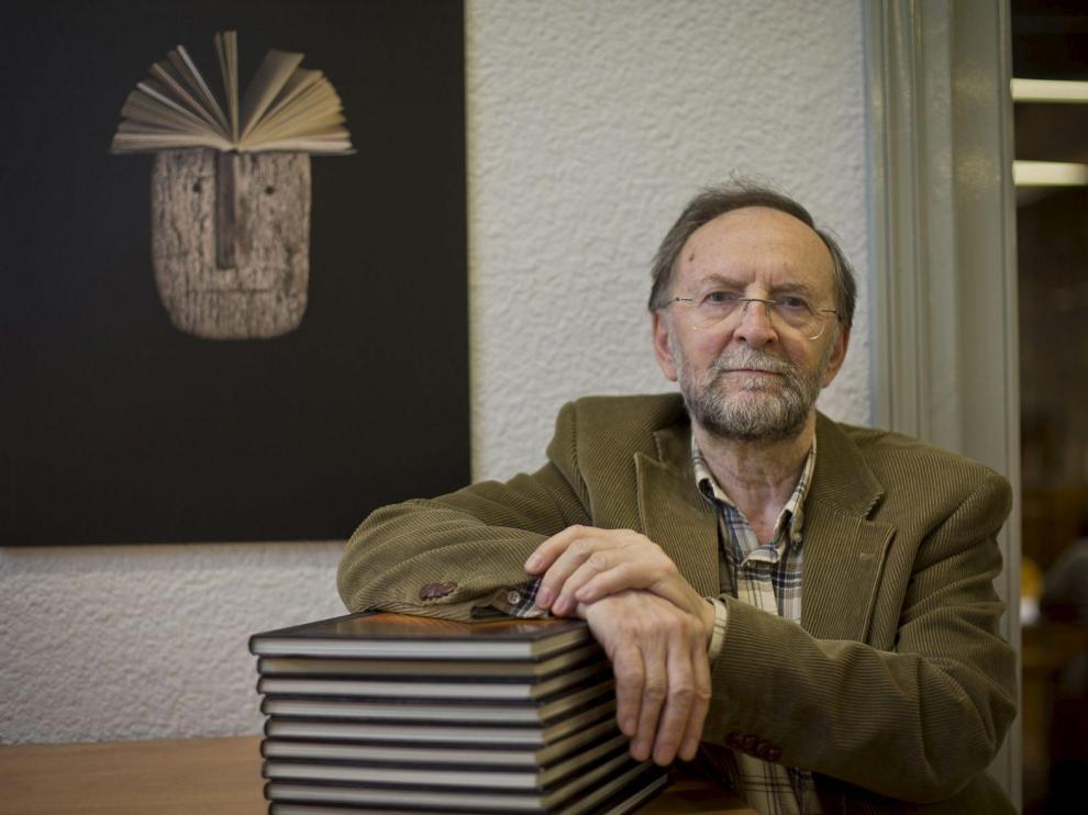 José Verón Gormaz, que fue premio de Letras Aragonesas en 2014.