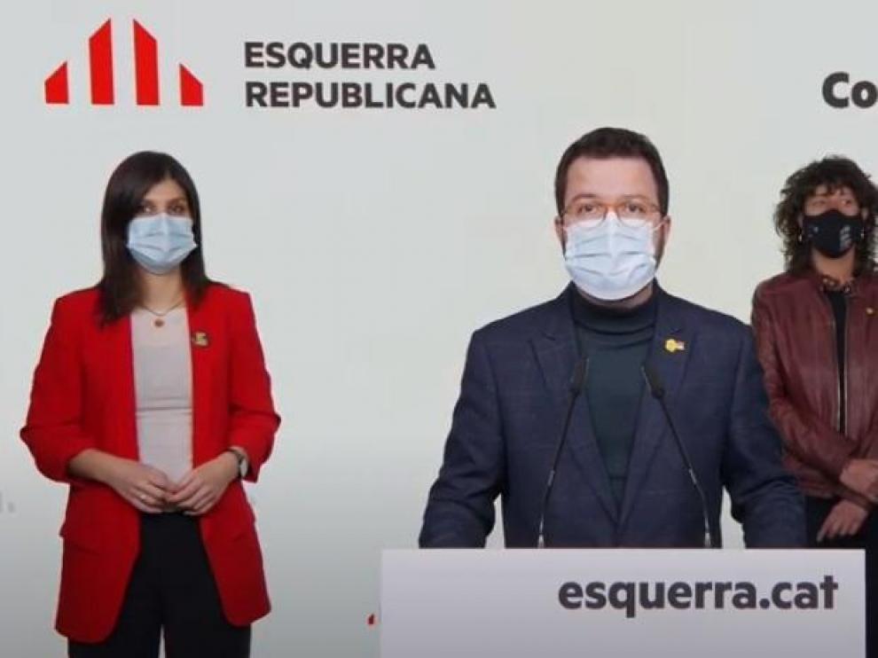 El vicepresidente de la Generalitat y coordinador nacional de ERC, Pere Aragonés.