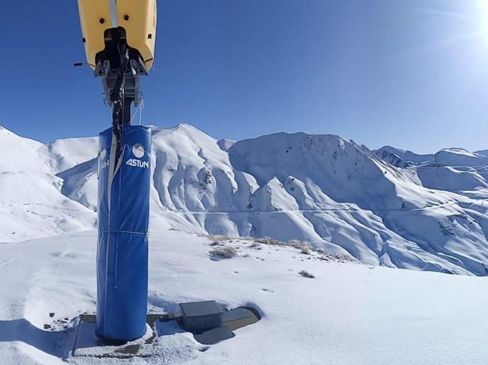 Imagen de la estación de Astún, que presenta una muy buenas condiciones de nieve.