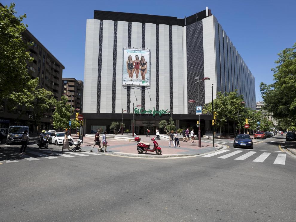 El Corte Inglés de Sagasta en Zaragoza, en una imagen de archivo.