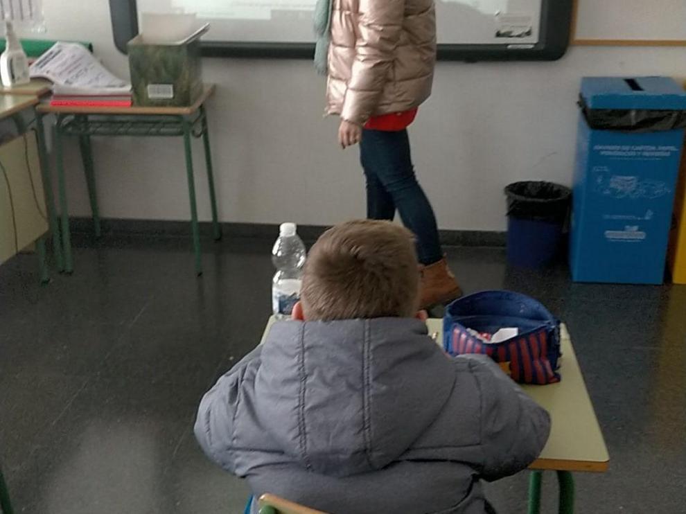 Un aula del colegio Valdespartera.