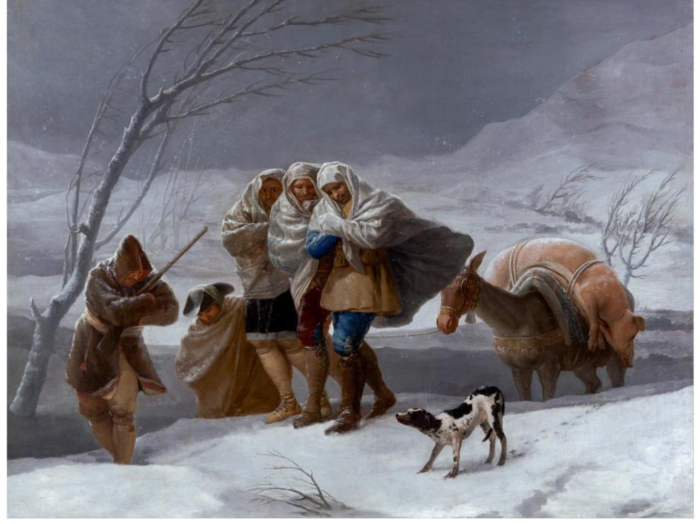 'La nevada' o 'El Invierno', obra de Goya de 1786 que puede verse en el Prado.