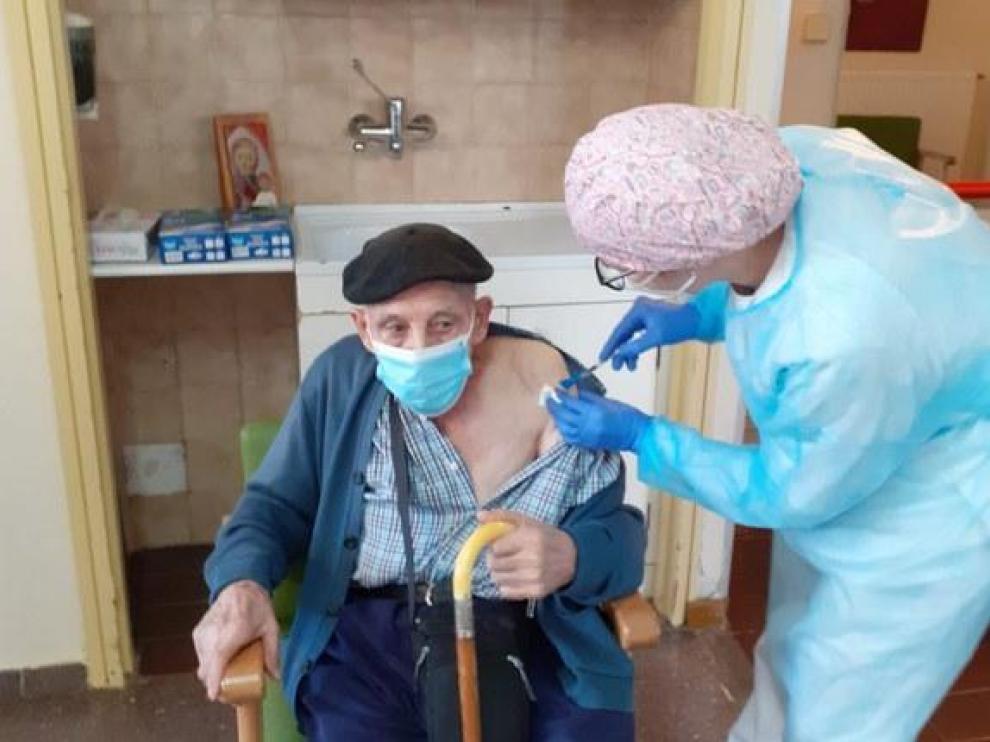 Los ancianos de la residencia de Tamarite fueron vacunados el 30 de diciembre.