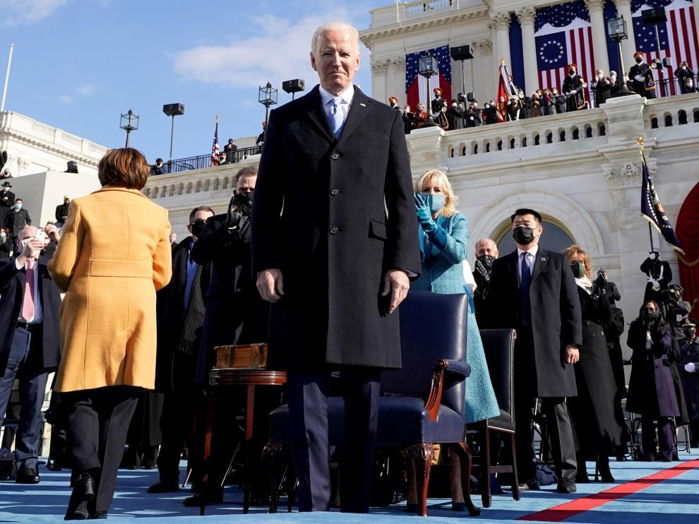 Biden, tras jurar el cargo de presidente de Estados Unidos.