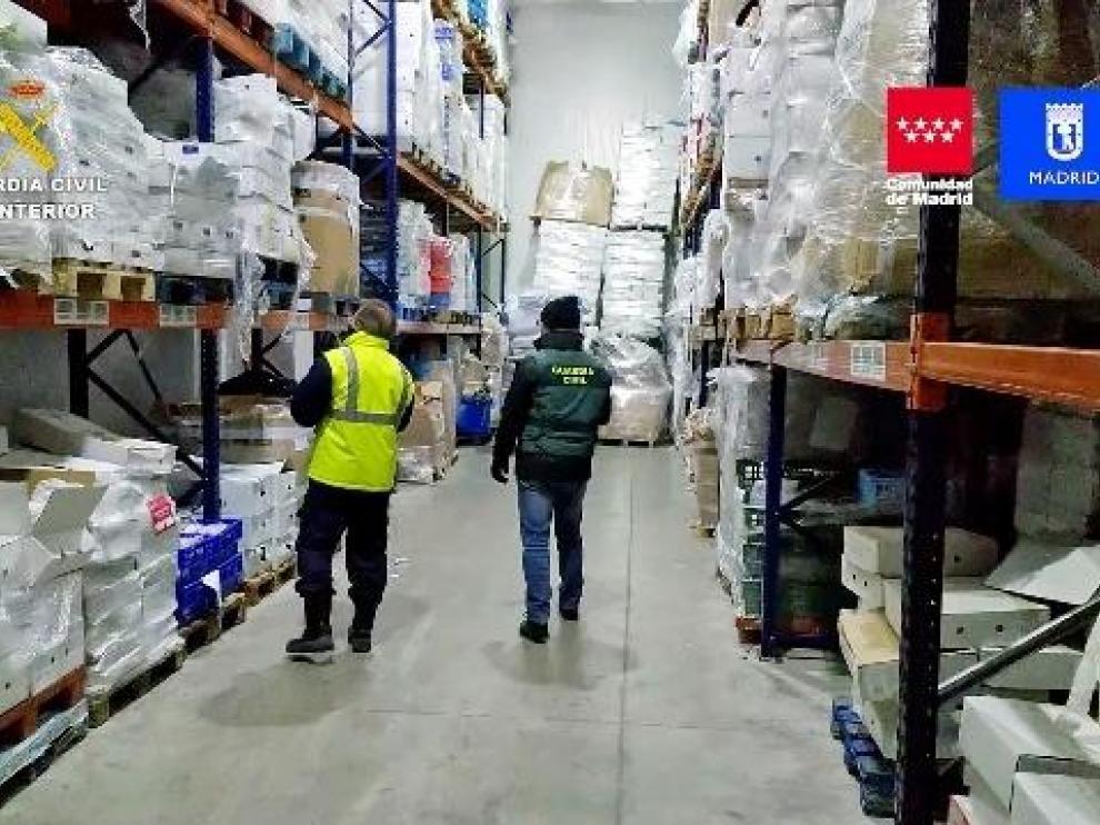 La Guardia Civil incauta más de 122.000 kilos de productos cárnicos.