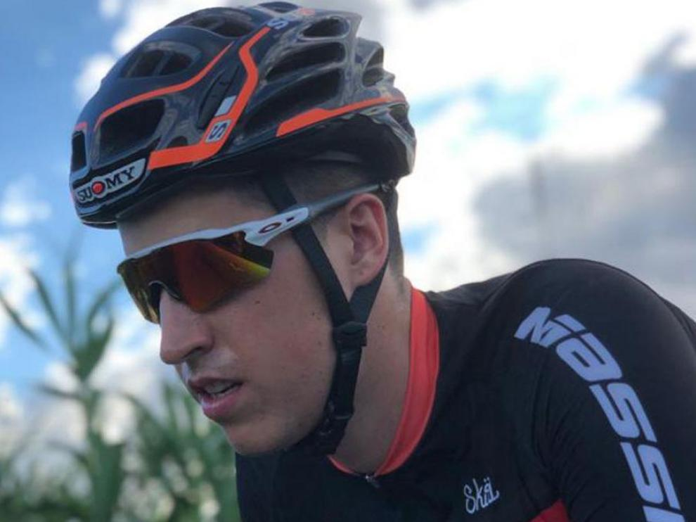 El ciclista aragonés Javier Comín