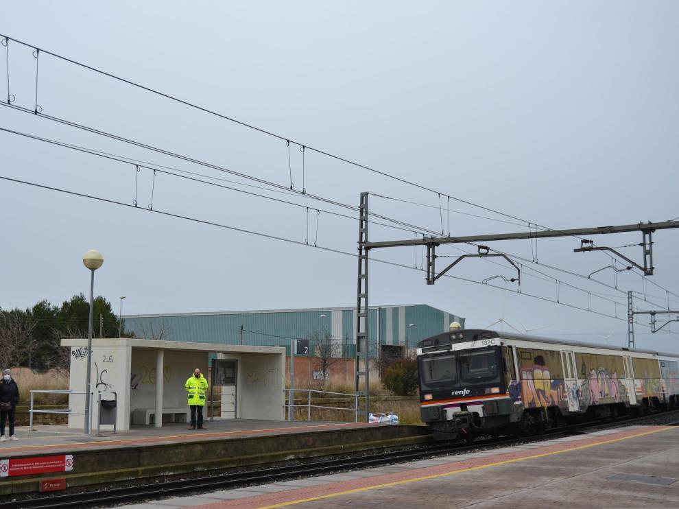 Gallur vuelve a contar con vigilante de las vías de tren, aunque solo por las mañanas