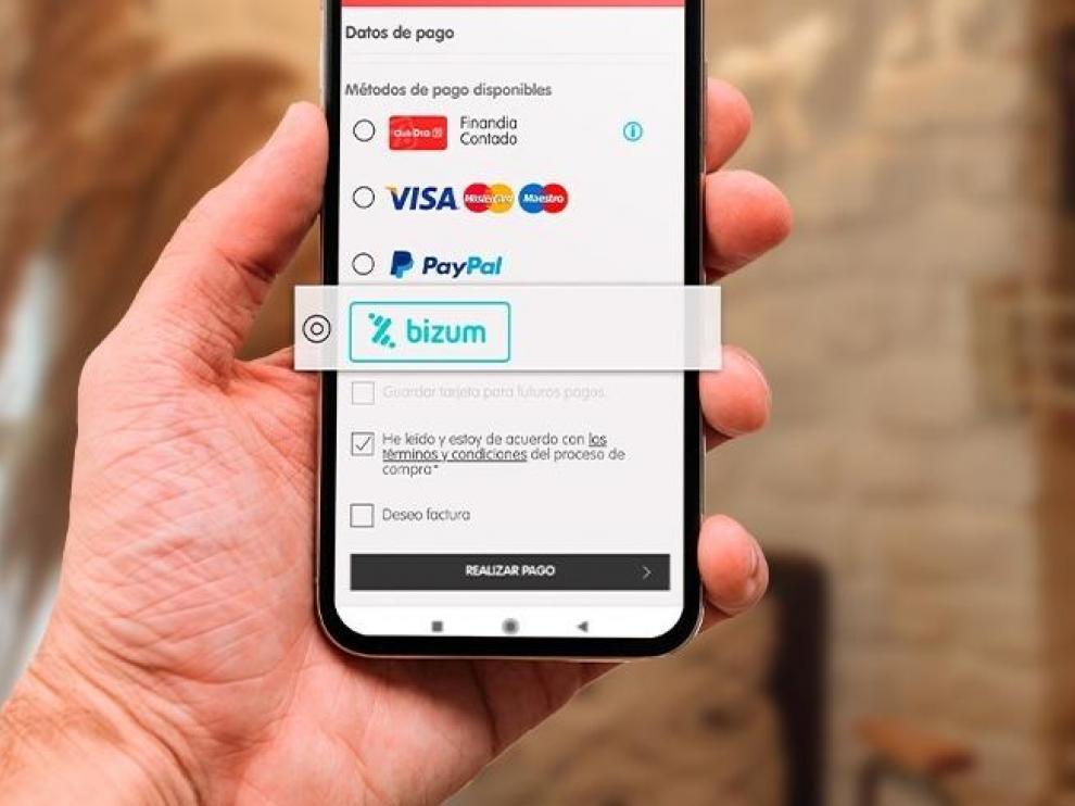 La aplicación de pago por móvil Bizum.