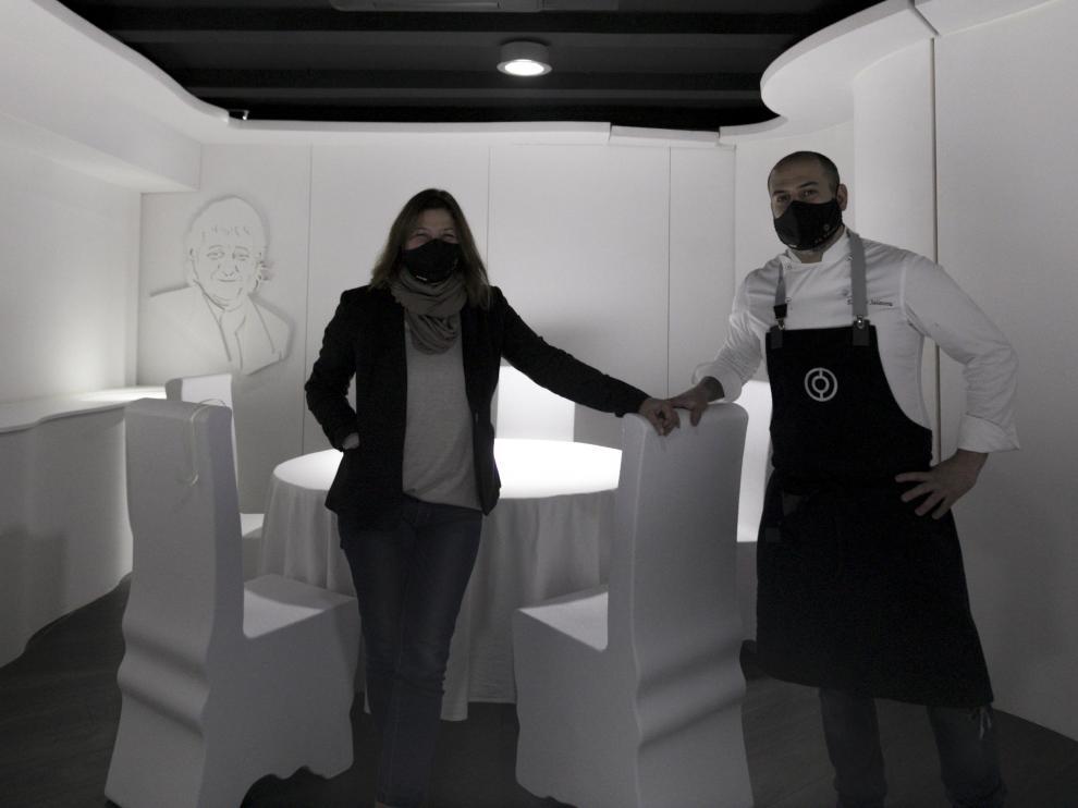 Ana Acín y Eduardo Salanova ultiman la reapertura del sorprendente Espacio N de La Venta del Sotón.