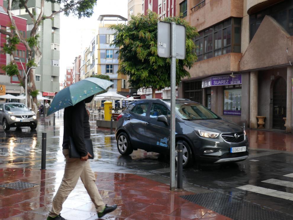 Lluvia en Las Palmas.