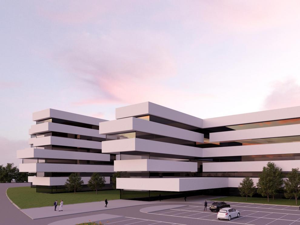 Recreación del nuevo hospital Quirón Salud.