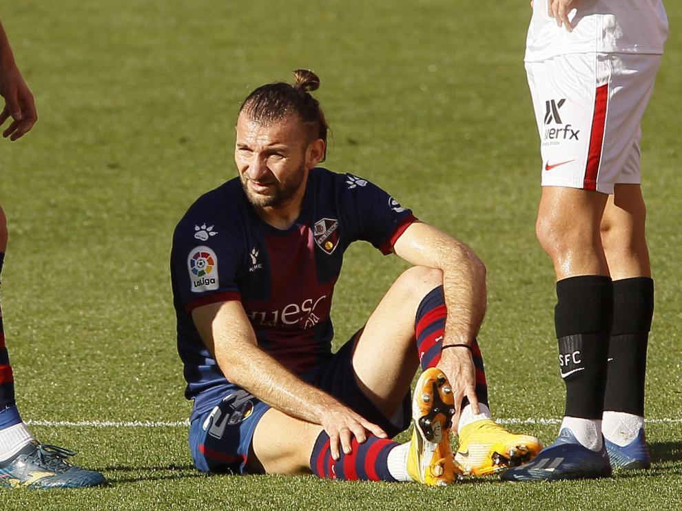 La SD Huesca se queda sin Gastón Silva hasta el tramo final de la Liga