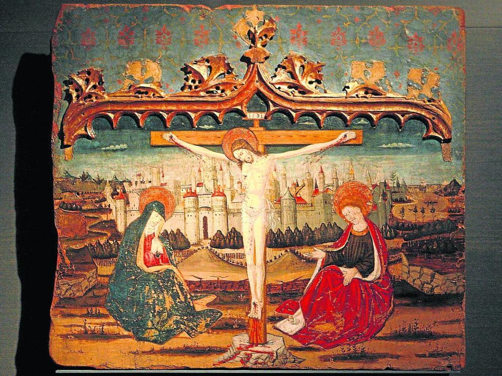 Tabla del Calvario. Esta pintura sobre tabla del siglo XV, atribuida a PedroGarcía de Benabarre, se encuentra en exposición permanente en el Museo de Lérida. Es una de las más valiosas y está catalogada como BIC.